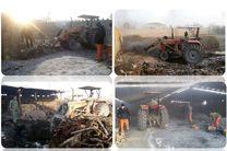 13 حلقه چاه غیرمجاز تولید زغال چوب در شهرستان خمینی شهر تخریب شد