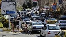ترافیک سنگین در جادههای چالوس و هراز/ بارش باران در محورهای شمالی