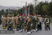 رژه یگان های نمونه ارتش در استان ها