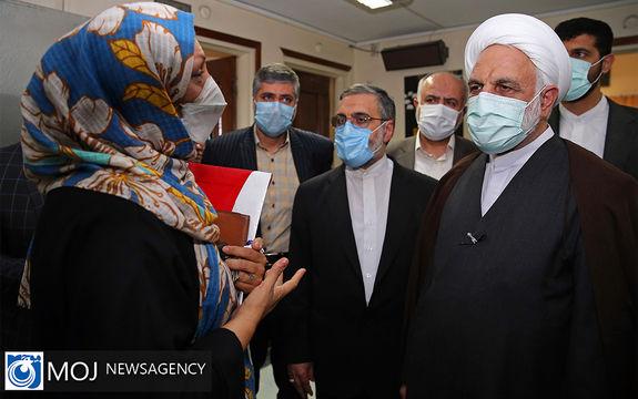 بازدید محسنی اژه ای ریس قوه قضاییه از مجموعه قضایی قرچک