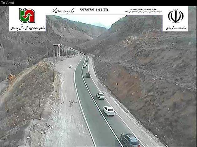ترافیک گزنک به پلور سنگین و محور سواد کوه به کندوان روان