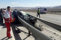 مرگ راننده خواب آلود در جاده همدان ساوه