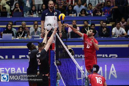 دیدار تیم های ملی والیبال ایران و کانادا