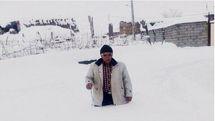 بارش 6 متری برف در شهرستان ورزقان