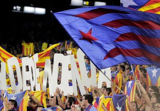 هشدار به باشگاه بارسلونا به خاطر حمایت از استقلال کاتالونیا