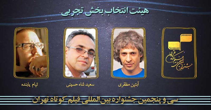 هیات انتخاب بخش تجربی جشنواره فیلم کوتاه تهران معرفی شد