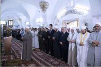 حضور بشار اسد در نماز عید فطر