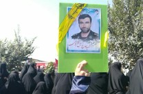 حضور خانواده شهید کمیل قربانی در مراسم تشییع شهید حججی