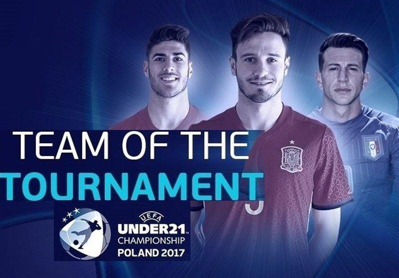 تیم منتخب مسابقات یورو زیر ۲۱ سال در تسخیر آلمانیها