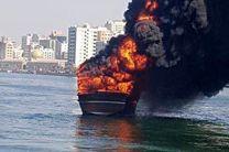 لنج تجاری سیریک در اسکله شارجه آتش گرفت