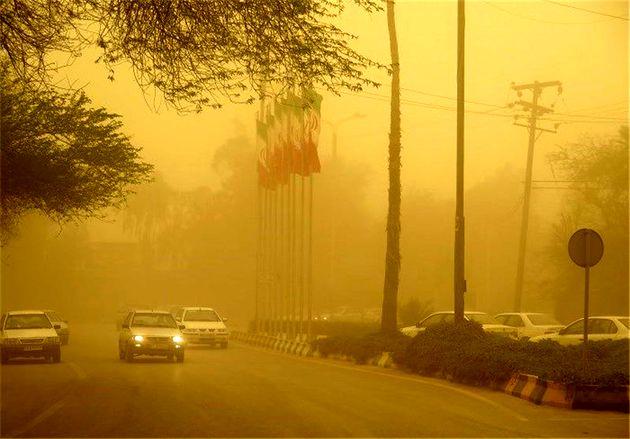 گرد و غبار در آبادان و خرمشهر به 66 برابر حد مجاز رسید
