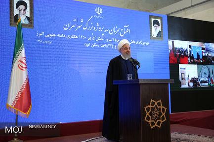 افتتاح همزمان سه پروژه شهر تهران با حضور رییس جمهوری/حسن روحانی رییس جمهوری