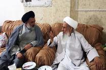 نماینده ولی فقیه در لرستان از آیت الله عباسعلی صادقی عیادت کرد