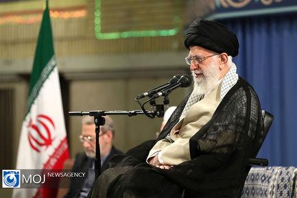 دیدار مسئولان نظام و سفرای کشورهای اسلامی با مقام معظم رهبری