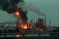 انفجار مهیب در پالایشگاه نفت فیلادلفیا