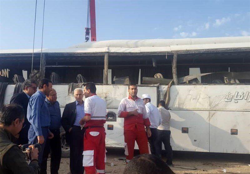 5 کشته و ۱۵ مصدوم تلفات واژگونی اتوبوس در محور مرودشت