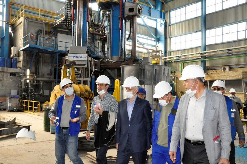 بازدید مدیر عامل و اعضا هیأت مدیره ذوب آهن اصفهان از مجتمع صنعتی اسفراین