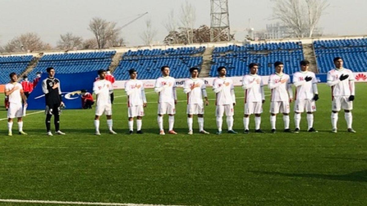 نتیجه بازی تیم ملى فوتبال نوجوانان ایران و تاجیکستان