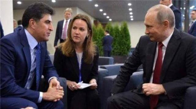 نخست وزیر اقلیم کردستان عراق با پوتین دیدار کرد
