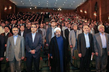 حاشیه های مراسم آغاز سال تحصیلی دانشگاه ها در دانشگاه تهران