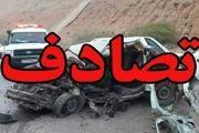 یک کشته و 2 مصدوم در اثر تصادف یک سواری پراید با کامیون