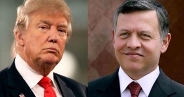 شاه اردن از دونالد ترامپ تشکر کرد