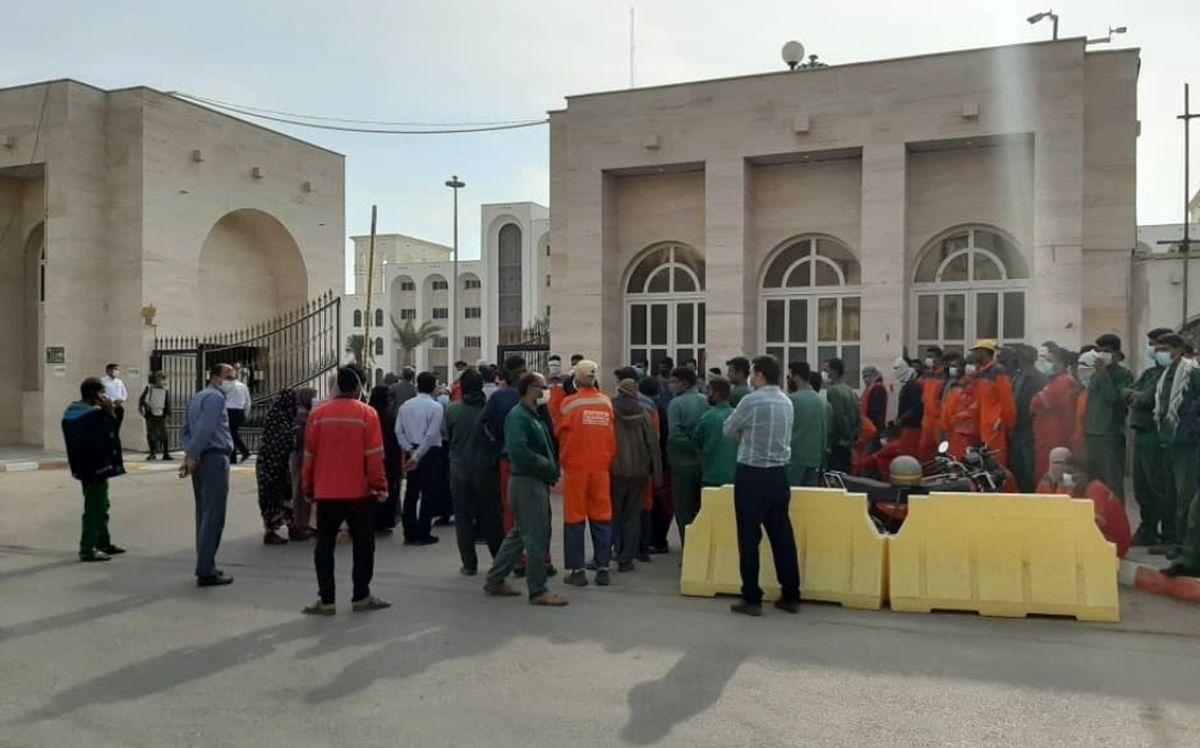 سفرههای خالی کارگران شهرداری بندرعباس در ماه رمضان