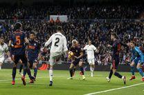 نتیجه بازی رئال مادرید والنسیا / برتری 2 بر صفر  رئال مقابل والنسیا