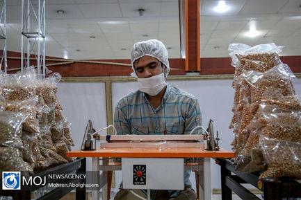 تهیه بسته های معیشتی توسط سازمان بسیج دانشجویی
