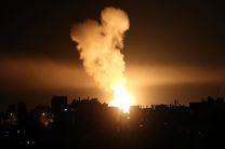 حمله جنگنده های رژیم صهیونیستی به مواضع حماس در غزه