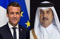 تماس تلفنی رئیس جمهور فرانسه با امیر قطر