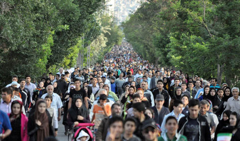 همایش پیاده روی خانوادگی به مناسبت دهه مبارک فجر