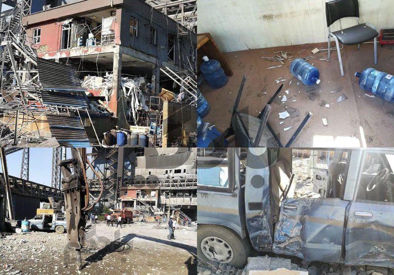 نشت گاز علت انفجار در آزمایشگاه شرکت فولاد هرمزگان