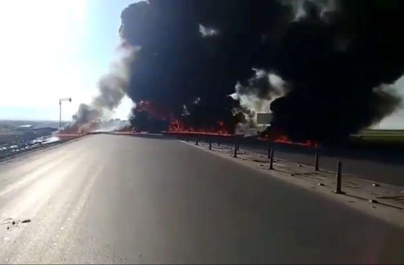 انفجار تانکر در استان یزد