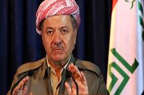 پیام مسعود بارزانی به نخست وزیر عراق