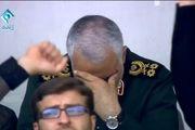 ثبت تاریخی لحظه ای که اشک در چشمان سردار سلیمانی حلقه زد