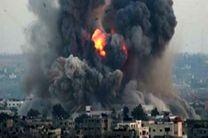 حمله هوایی جنگنده های صهیونیستی به نوار غزه