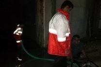امدادرسانی جمعیت هلال احمر در شهرستان پارسیان