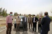 اعضای شورای اسلامی شهر و معاون شهردار قم از اقدامات نوروزی مناطق شهری بازدید کردند