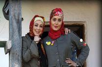 الناز شاکردوست و بهنوش بختیاری در مسابقه رالی ایرانی
