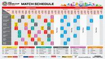برنامه مسابقات جام ملت های آسیا از افتتاحیه تا فینال