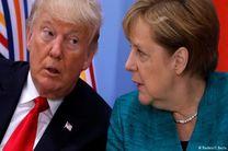 تماس تلفنی ترامپ با مرکل به مناسبت پیروزیاش در انتخابات آلمان