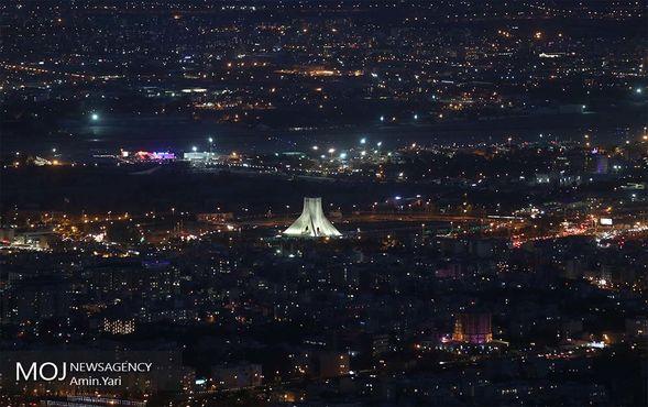 نمای شهر تهران از فراز برج میلاد