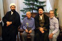 سیدحسن خمینی با عزتالله انتظامی دیدار کرد + تصاویر
