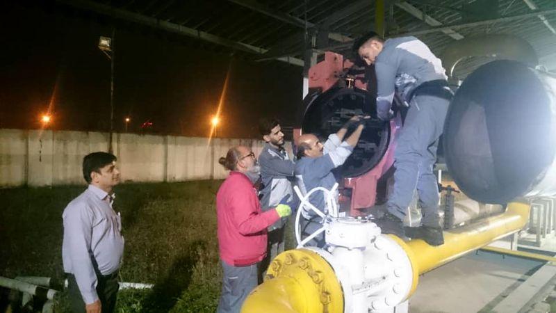 پایان عملیات سرویس سالیانه ایستگاه های گاز منطقه یک رشت