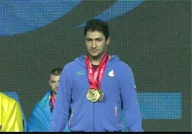 ثبت طلای دو ضرب و مجموع به نام بیرالوند/ قهرمانی وزنهبردار جوان ایران با کسب سه مدال