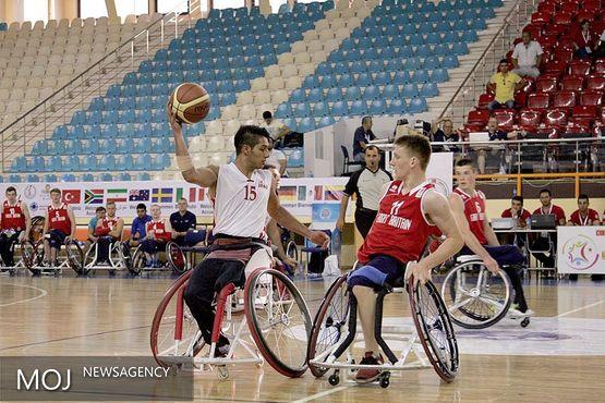 تیم بسکتبال با ویلچر ایران مقابل هلند شکست خورد