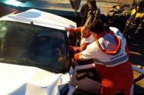 برخورد دو خودرو در محور کرج چالوس 3 مصدوم برجای گذاشت
