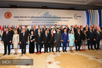 سومین اجلاس مجالس عضو اتحادیه اوراسیا با حضور علی لاریجانی