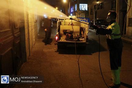 گندزدایی و ضد عفونی کردن معابر و منازل در تهران